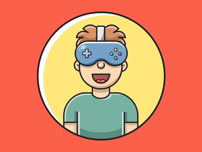 VR Gaming Illustration logo game vr vrgaming gaming adobe illustrator illustration