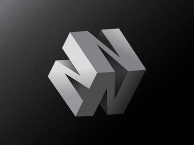 N-Cube Logo Concept 3d logo mark graphic design illustration branding logotype logo design logo