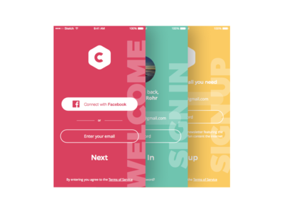 Daily UI 001 – Sign up