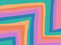 abstract retro rainbow