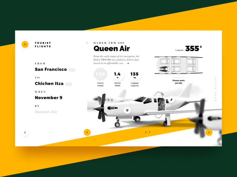 Choosing seats in a charter aircraft trinetix design ux ui product navigation white seats slider airplane aircraft charter travel trip visual web interface illustration choose booking