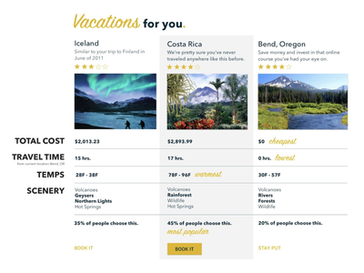 Vacation Selection Service