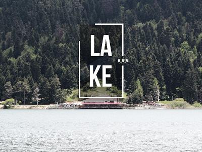 Lake abant bolu turkey typography lake