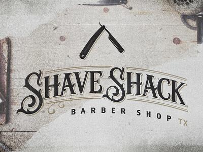 Shave Shack Barber Shop packaging type branding typography design