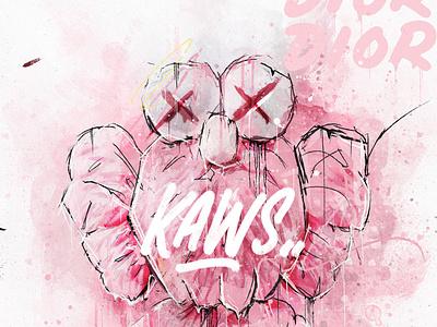 KAWS BFF Pink Edition graphic design digitalart illustration type branding typography design