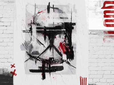 Star Wars - Clone Trooper digitalart illustration typography design