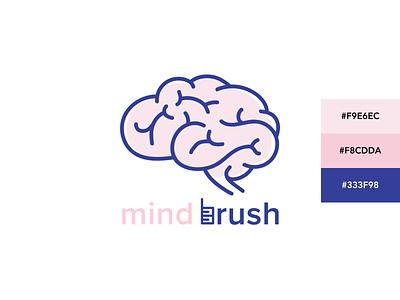 Mindbrush Logo illustration branding logo