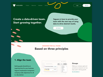 Landing Page web ui design