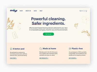 Landing Page ecommerce landing page web ui dailyui