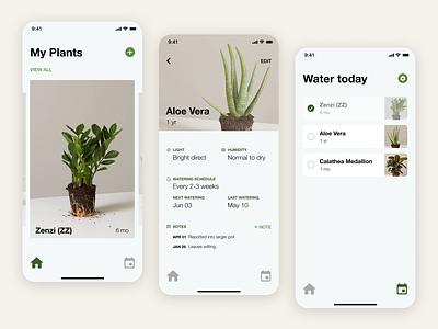 Plant care app design ui plants mobile