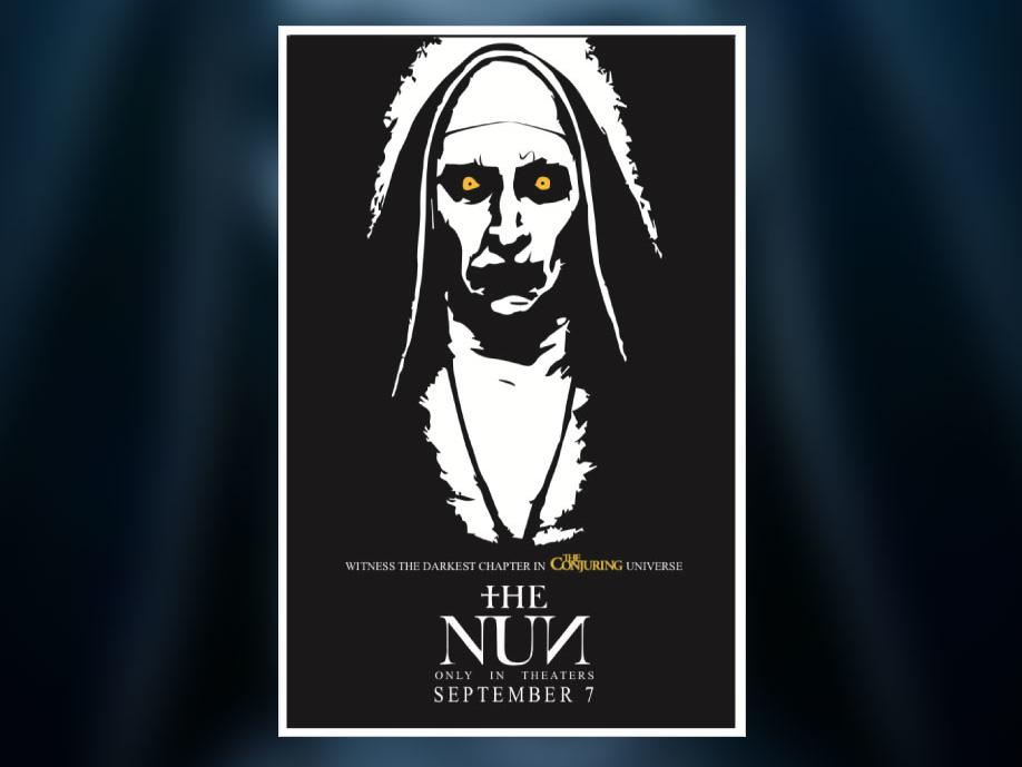 The Nun Minimalist Poster By Jonathan Carrillo Dribbble Dribbble
