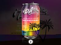 IPAnema Beer | Beer Can Concept Art
