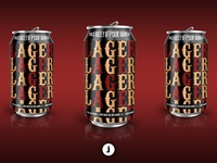 X Lager | Beer Can Mockup