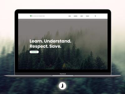 The G•R•E•E•N Foundation | Website Concept