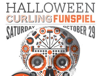 Halloween Curling halloween curling funspiel skull day of the dead