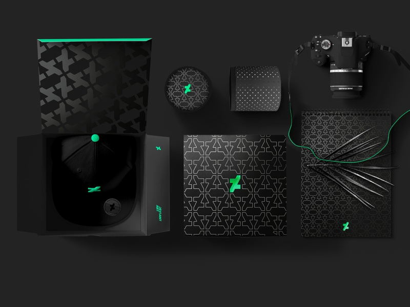 "Merch: ""Green, on Black, on Black"" pattern notbook hat merch design merchandise design merchandise merch icon typography branding vector design logo"