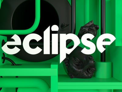 Eclipse Pipes 3d art typography illustration icon cinema4d branding logo 3d graphic design