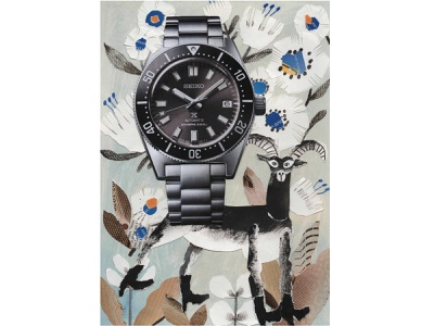 """""""Himmapanmashmallow"""" Illustration for L'officiel Hommes seiko color collageart collages animalillustration watch editorial design painted paper editorial illustration editorial mixed media character design paper collage paperart painting illustration collage"""