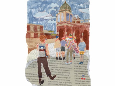 goodday texture urban art street city editorial illustration editorial childrens book mixed media paper collage paperart collage color painting illustration