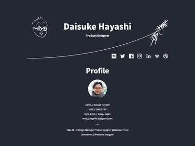 Daisuke Hayashi Portfolio Site own portfolio design ui web