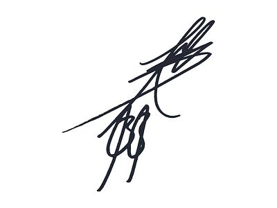 Daisuke Hayashi Signature branding typography design own signature