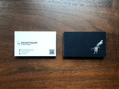 Daisuke Hayashi Business Card branding own design business card
