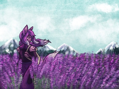 Lavender Fields background lavender ipad procreate illustration
