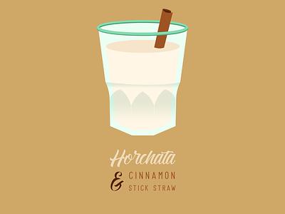 Horchata & Cinnamon Stick Straw cinnamon stick horchata design illustrator graphic design illustration vector