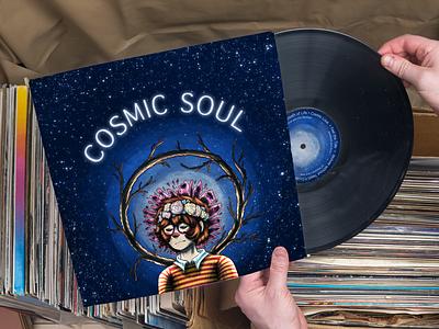 Cosmic Soul album artwork album cover design graphic design design illustration