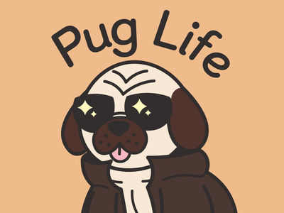 Pug Life shirtdesign puglife pug dog illustrator vector graphic design illustration