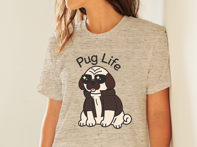 Pug Life Shirt pug vector shirtdesign dog puglife illustrator graphic design illustration