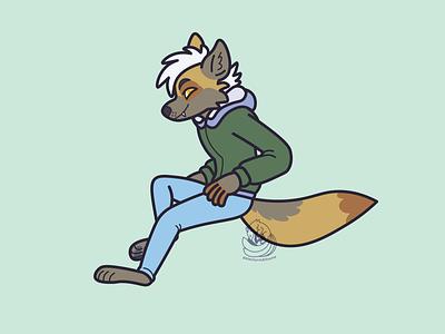 Nikola Illustration coyote illustrator vector illustration