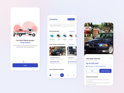 Used Car Commerce App Exploration Design mobile design awesome design ui design ux design mobile app app ui inspiration clean ui design design