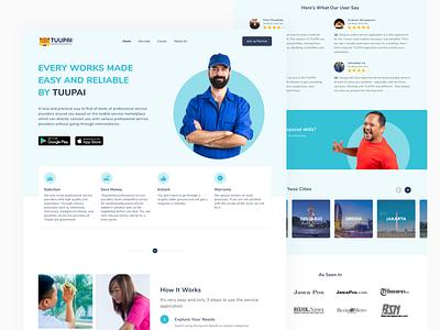 Landing Page TUUPAI Redesign Exploration app design ui inspiration awesome design ui design web design web