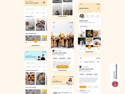 Cooking Recipes App Design Exploration mobile awesome design design app ui design minimal inspiration ui