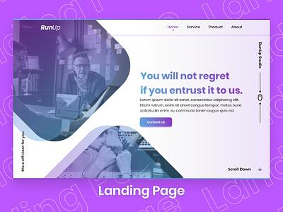 Runup Landingpage gradient flat branding minimal webdesign web ux ui