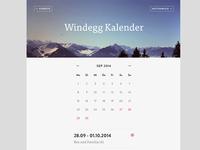 Calendar / Event Page
