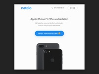 Landingpage for iPhone 7 Presale