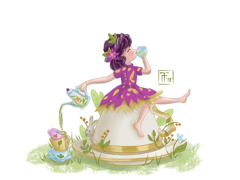The Princess Of Tea Ceremonies By Tanya Gulyaeva Dribbble Dribbble