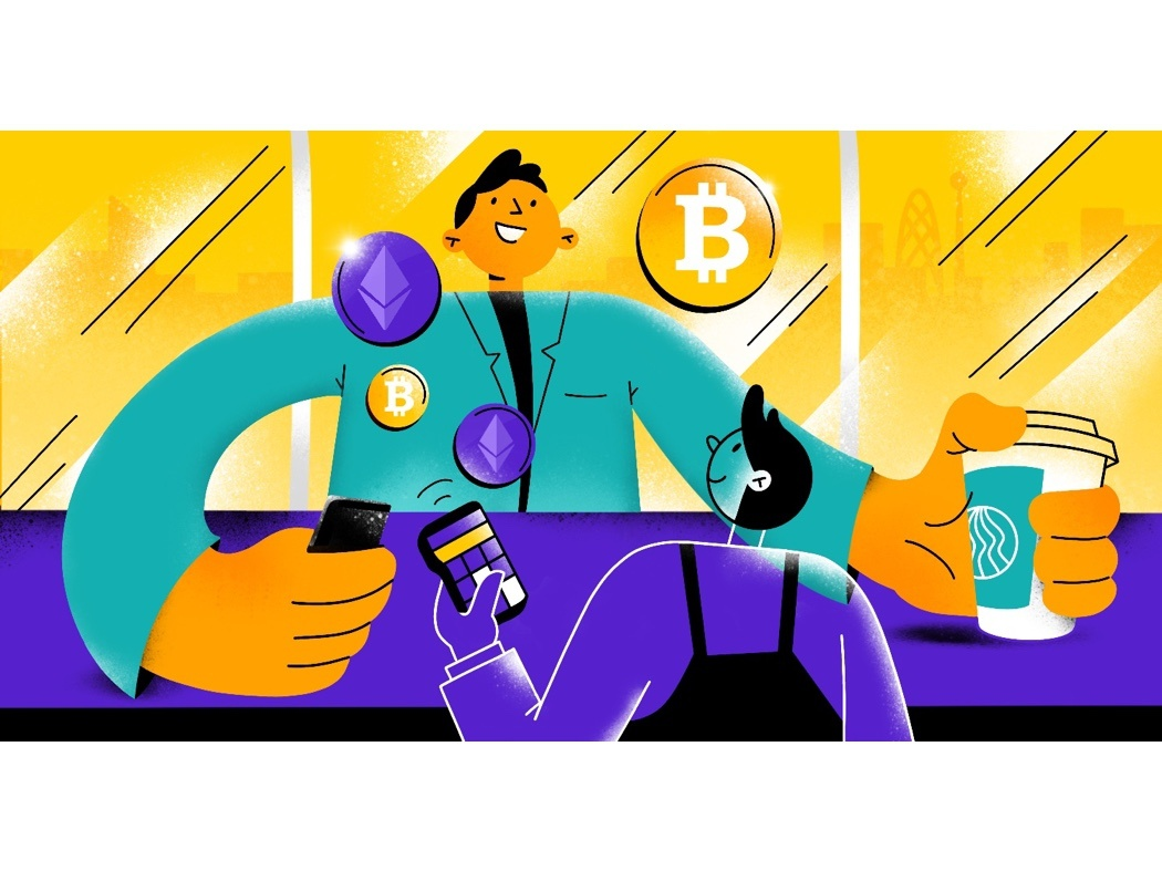 Bitcoin payment editorial editorial illustration crypto cryptocurrency payment bitcoin иллюстрация illustration