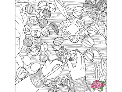 """25 Line art for mobile app """"Happy Color - Color by Number"""""""