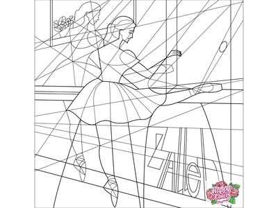 """12 Line art for mobile app """"Happy Color - Color by Number"""""""