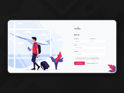 Login UI signup cleane colorful illustration login trip login tour login login page ux  ui uiux ui sign in trip travel tour