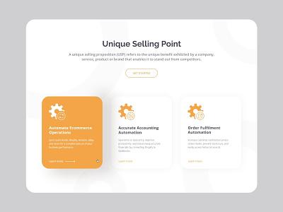 USP Card & Icons 2020 orange icon design usps icon design clean minimal uidesign ux card usps card usps card usp icon usp icon usp ui usps