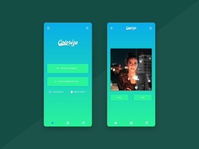 Colorize App Landing Page