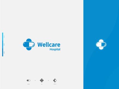 Hospital Logo creative logo design creative logo logos logo logotype medicine blue hospital logo logodesign