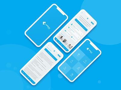 Mobile App Landing Page ux ui user interface hospital app app design mobile app ui design uiux