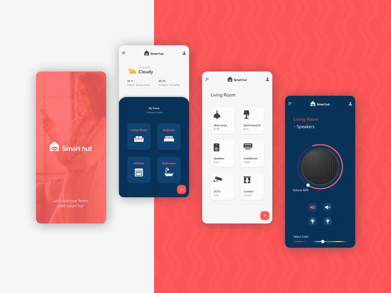 Smart Home App Design app dashboard smart logo simple 2019 smart ui  ux landing page app design minimal smarthome