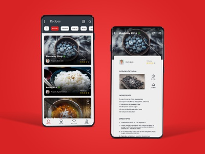 Recipe App 2019 app design app landing page app landing ui ux app simple minimal recipe recipe app