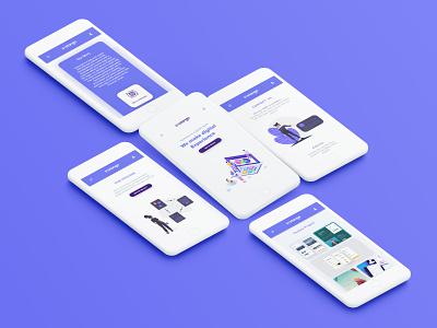 Systango Web application colourfull app creative app app design mobile landing page 2019 design colourful minimal uiux web application design web application web app